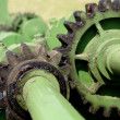 Stock Photo: Old green gearing