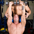 Royalty-Free Stock Photo: Bodybuilders training in the gym