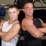 Bodybuilders posing — Stock Photo #1995555