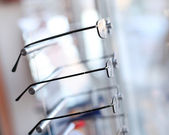 Detail from eye glasses shop — Stock Photo