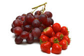 Grapes and strawberries — Stock Photo