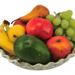 Plate of fresh fruit — Foto Stock
