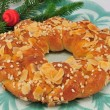 Christmas Braided Bread — Stock Photo
