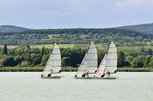 Three sailing boat — Stock Photo