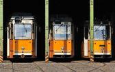 Straßenbahnen in gehäuse — Stockfoto