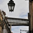 Stock Photo: Lamps and skywalk