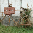 Rusty bicycle with case — Stock Photo