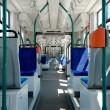 Longest articulated tram interier - Stockfoto