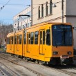 Yellow tram - Stockfoto