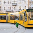 Yellow tram - Stock Photo
