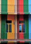 Colorful windows — Stock Photo