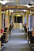 Articulated tram interier — Stock Photo