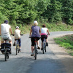 Bike trip — Stock Photo