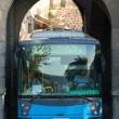 Bus across the wall - Foto Stock