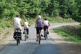 велосипед путешествие — Стоковое фото