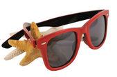 Red sun glasses — Stock Photo
