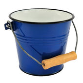 Empty blue bucket — Stock Photo