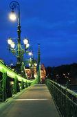 Walkway on Liberty bridge — Stock Photo