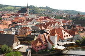 Krumlov - europeisk stad - tjeckien — Stockfoto