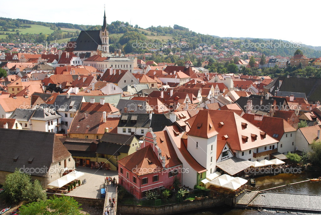 Krumlov - european town  - Czechia — Stock Photo #1844193