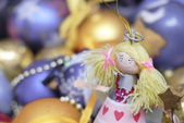 Christmas Decoration on defocused backgr — Stock Photo