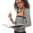 Beautiful young curly school girl — Stock Photo