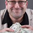 Businessman with Money — Stock Photo #1798442