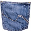 Jeans back pocket — Stock Photo