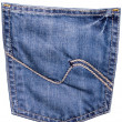 Jeans back pocket - Stock Photo