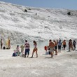 Travertine pools and terraces - Pamukkale — Stock Photo