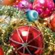 Christmas decoration assortment — Stock Photo