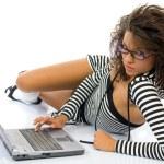 mladá krásná podnikatelka — Stock fotografie