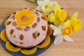 Sweet cream-cheese dish eaten at Easter — Stock Photo