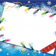 Christmas card background with christmas — Imagen vectorial