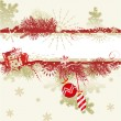 Christmas background with blank banner — Stockvector #1858318