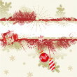 Noel arka plan boş afiş — Stok Vektör