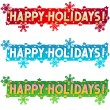 Royalty-Free Stock Imagen vectorial: Holiday greetings - Happy Holidays!