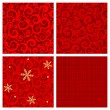 Red colors seamless patterns — Stock Vector