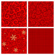 Red colors seamless patterns - Stock Vector