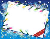 Kerstkaart achtergrond met kerstmis — Stockvector