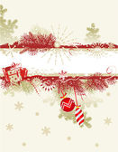 Christmas background with blank banner — Stock Vector