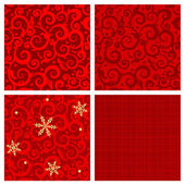 Red colors seamless patterns — Stockvector