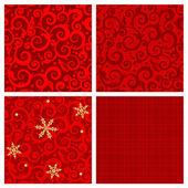 Rode kleuren naadloze patronen — Stockvector