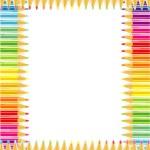 Pencils frame or border — Stock Vector