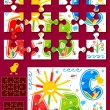 Make your own jigsaw puzzle kit - Stock Vector