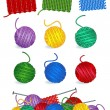 Knitting design elements - Stock Vector