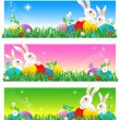 Stock Vector: Easter banners or poster