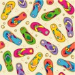 Seamless (repeatable) flip-flops pattern — Stockvectorbeeld