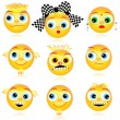 Smiley faces or avatars set - Stock Vector