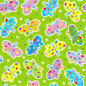 Seamless butterflies pattern — Vecteur